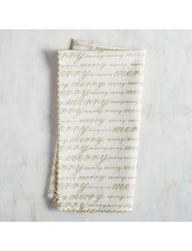 Golden Script Napkin by Pier1 Imports