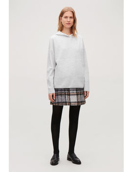 Oversized Wool Knit Hoodie by Cos