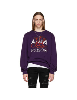 Purple 'poison' Sweatshirt by Amiri