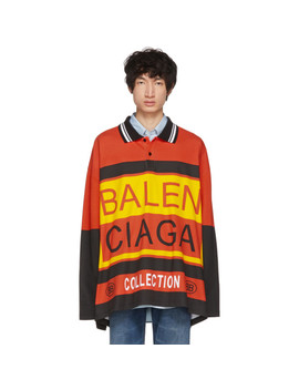 Multicolor Logo Oversized Polo by Balenciaga