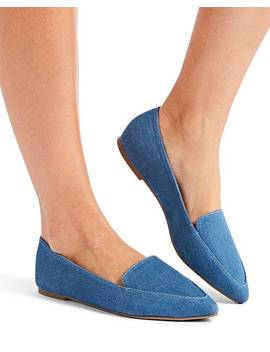 Alexa Pointed Loafer Wide E Fit by Fashion World