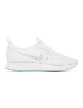 Baskets Blanches Et Grises Zoom Air Mariah Fk Racer by Nike