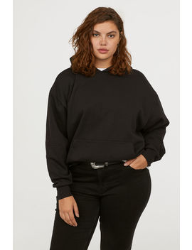 H&M+ Oversized Hooded Top by H&M