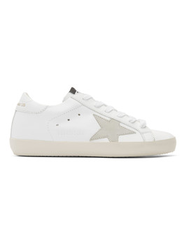 Baskets Blanches Et Grises Clean Superstar by Golden Goose