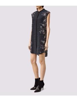 All Saints Luna Virgo Silk Dress In Ink Blue Size Uk 12 Bnwt £168 by Ebay Seller