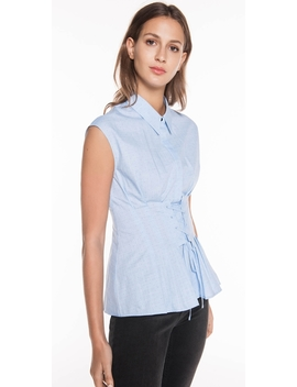 Textured Pin Spot Laced Shirt by Cue