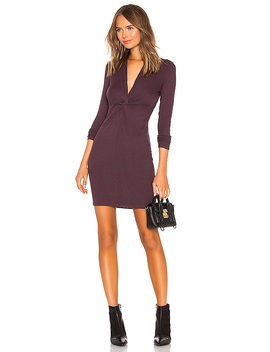Rib Twisted Mini Dress by Enza Costa