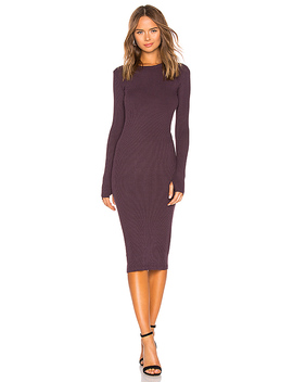 X Revolve Rib Midi Dress by Enza Costa
