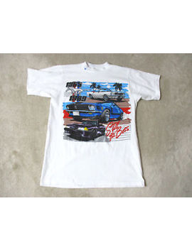 Vintage Ford Mustang Shirt Adult Medium Still The Boss White Racing Racer Mens by Alore