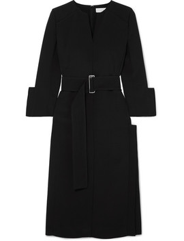 Belted Crepe Midi Dress by Victoria Beckham