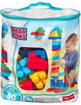 Mega Bloks First Builders Big Building Bag   80pc by Mega Bloks