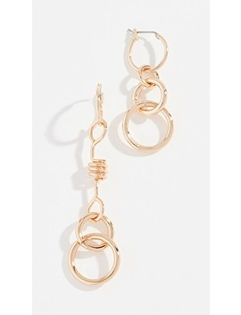 Mismatched Twisted Links Earrings by Rebecca Minkoff