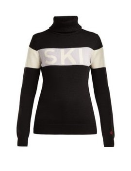 Ski Roll Neck Wool Sweater by Perfect Moment
