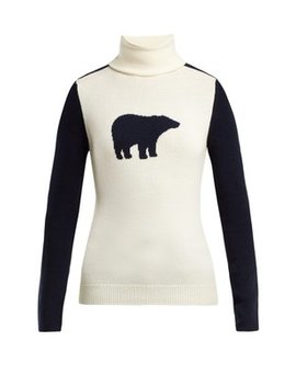 Bear Roll Neck Wool Sweater by Perfect Moment