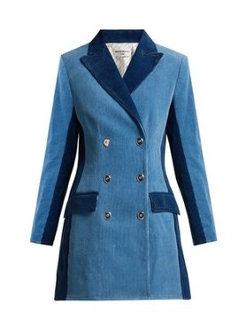 Panelled Double Breasted Corduroy Coat by Sonia Rykiel