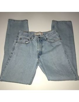 Levi's 505 Light Washed Blue Regular Fit Straight Leg Denim Jeans Mens 31 W31 L34 by Levi's