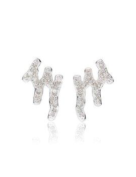 Riva Waterfall Stud Diamond Earrings by Monica Vinader
