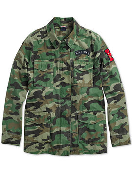 Women's Camo Field Jacket From The Adaptive Collection by Tommy Hilfiger
