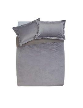 Argos Home Grey Velvet Bedding Set   Double by Argos