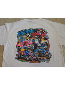 Kam Racing Killin Time T Shirt Mens Xl Bright Colors Art Race Car Raceway Vtg by Ebay Seller