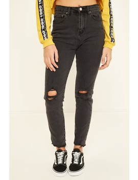 Ziggy Uptight Jean Babin Black by Universal Store