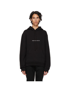 Black 'american Flags And Buildings' Hoodie by Calvin Klein 205 W39 Nyc