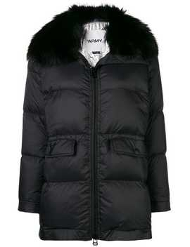 Fox Fur Trim Puffer Jacket by Yves Salomon Army
