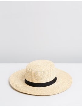 Selene Straw Wide Brim Boater by Ace Of Something
