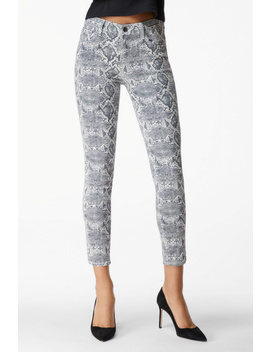 835 Mid Rise Cropped Skinny In Boa Moonbeam by J Brand