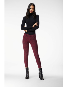 835 Mid Rise Cropped Skinny In Boa Oxblood by J Brand