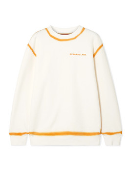 Two Tone Cotton Jersey Sweatshirt by Eckhaus Latta