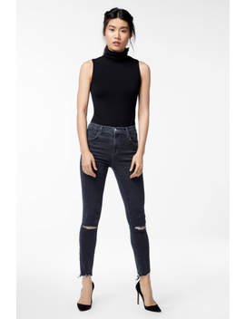 Alana High Rise Cropped Super Skinny In Ashes Destruct by J Brand