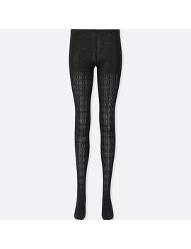 Women Heattech Knitted Cable Tights by Uniqlo