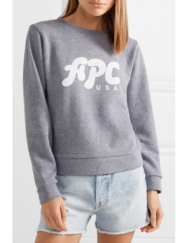 Sweat Emma French Cotton Blend Terry Sweatshirt by A.P.C. Atelier De Production Et De Création