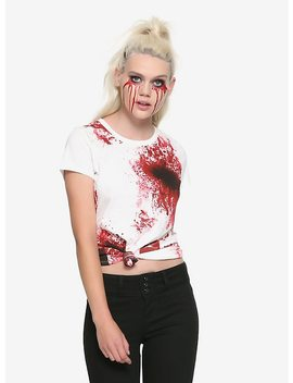 Zombie Proof Blood Splatter Girls T Shirt by Hot Topic