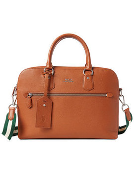 Men's Pebbled Briefcase by Polo Ralph Lauren