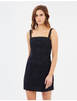 Blackrose Lace Shift Mini Dress by By Johnny.
