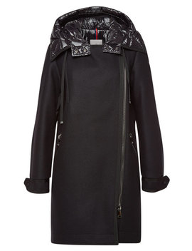 Bouscarle Down Coat With Virgin Wool by Moncler