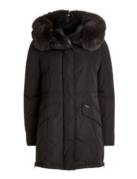 City Down Parka With Fur Trimmed Hood by Woolrich