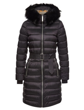Lime House Quilted Down Coat With Shearling by Burberry
