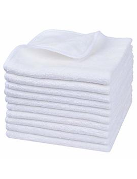 Sinland Microfiber Facial Cloths Fast Drying Washcloth 12inch X 12inch White 10 Pack by Sinland