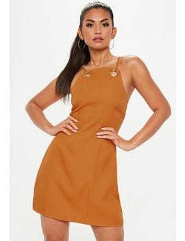 Orange Strappy Eyelet A Line Dress by Missguided
