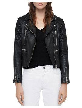 Nysa Quilted Leather Biker Jacket by Allsaints