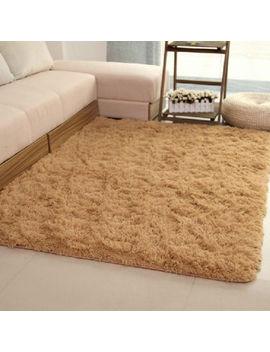 Fluffy Rugs Anti Skid Shaggy Area Dining Room Bedroom Carpet Floor 80x120cm  A by Ebay Seller