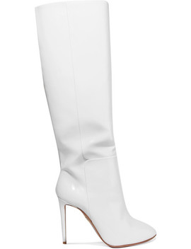 Brera Patent Leather Knee Boots by Aquazzura