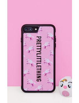 Prettylittlething Unicorn Pink I Phone 8 Plus Case by Prettylittlething