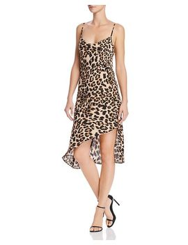 Ansonia Leopard Print Slip Dress by Amanda Uprichard