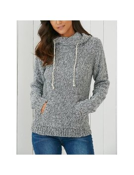 "<P>Hooded Long Sleeve Pocket Design Women's Sweater</P><I Class=""Icon Down Js Tap Up Down""></I> by Dress Lily"