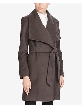 Cashmere Blend Draped Open Front Coat by Lauren Ralph Lauren