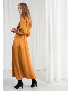 Belted Satin Maxi Dress by & Other Stories